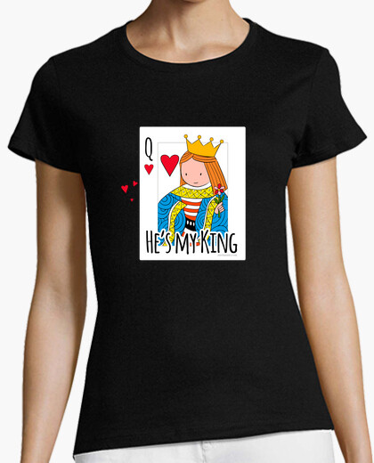 Camiseta He is my king. Color.
