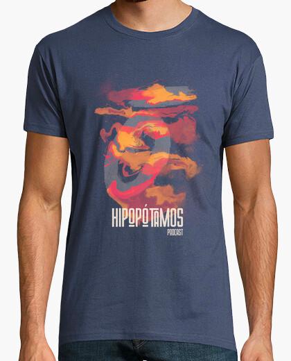 Camiseta Hipopótamos Art Hombre - Colores...