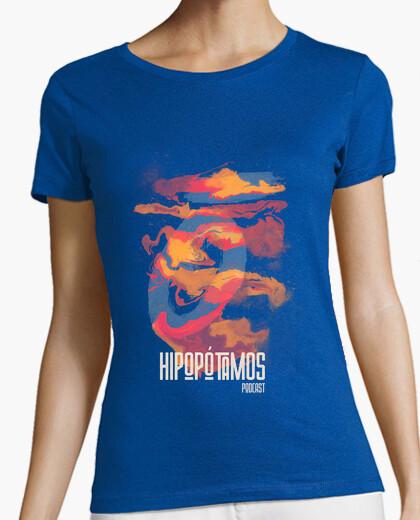 Camiseta Hipopótamos Art Mujer - Colores...