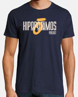 Camiseta Hipopótamos Hombre - Colores oscuros - Logo grande