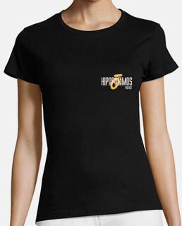 Camiseta Hipopótamos Mujer - Colores oscuros - Logo pequeño
