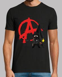 camiseta hombre - anarquía bloque gato negro