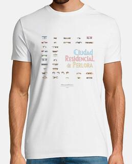 Camiseta hombre - Ciudad Residencial de Perlora con chalets mini