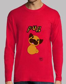 Camiseta hombre - Pug