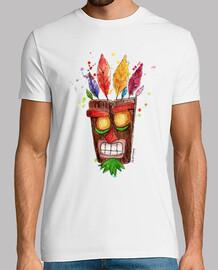 camiseta hombre Aku Aku mascara