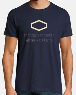 Camiseta hombre Arctic Monkeys, manga corta, azul marino, calidad extra Tranquility Base Hotel + Cas