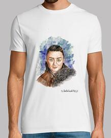 Camiseta hombre Arya Stark juego de tronos
