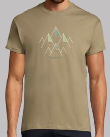 Camiseta hombre, aventura, senderismo, montaña