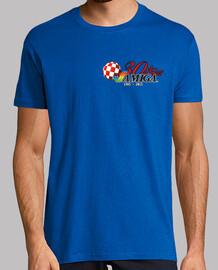 Camiseta Hombre Azul Logo Amiga 30 años