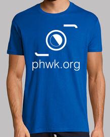 camiseta hombre azul logo blanco