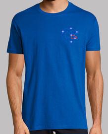 Camiseta Hombre Azul Solo Logo Pequeño Constelación Commodore