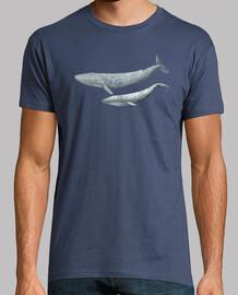 Camiseta hombre Ballena azul