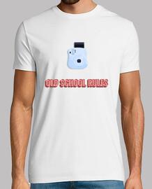 Camiseta hombre blanca Fotografía Old School