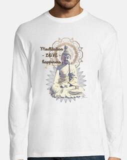 Camiseta Hombre Buda words
