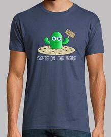 Camiseta hombre cactus letras blancas