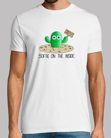 Camiseta hombre cactus letras negras