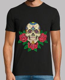 Camiseta Hombre Calavera mexicana