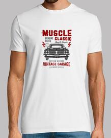 Camiseta hombre coche clásico (muscle classic)