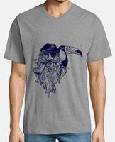 Camiseta hombre, cuello pico cerrado