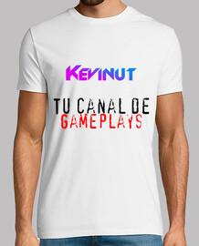 Camiseta Hombre de manga corta con letras + eslogan de Kevinut