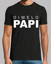Camiseta Hombre 'Dimelo papi' Nicky jam manga corta.
