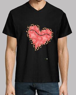 Camiseta hombre: Donde el corazón se inclina, el pie camina