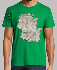Camiseta hombre Dronecoria V6 boceto Da Vinci