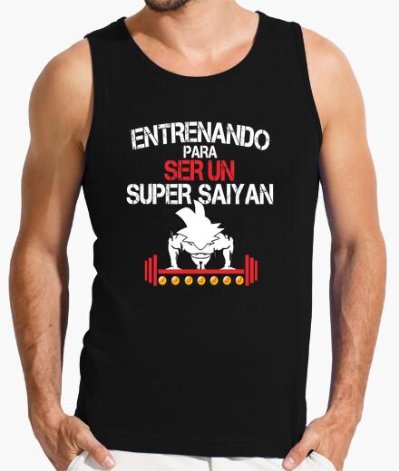 Camiseta hombre entreno super saiyan goku
