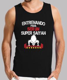 camiseta hombre entreno super saiyan vegeta