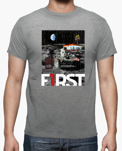 Camiseta hombre First - Astronauta en la luna