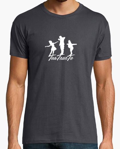 Camiseta Hombre Gris Logo TeaTrarTe
