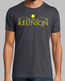 camiseta hombre, isla de la reunión