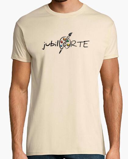 Camiseta Hombre, manga corta, crema, calidad extra