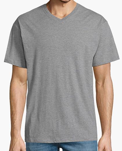Camiseta Hombre, manga corta cuello pico...