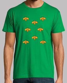 Camiseta hombre manga corta diseño abejas