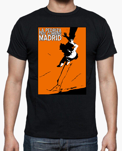 Camiseta Hombre, manga corta, negra,...
