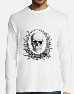 Camiseta hombre manga larga Calavera Skull Negra
