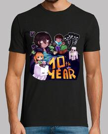 Camiseta (hombre) Minecraft especial 10 años