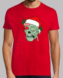 Camiseta hombre Navidad Zombie