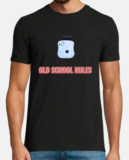 Camiseta hombre negra Fotografía Old School