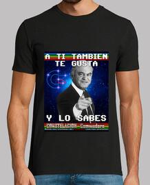Camiseta Hombre Negra Tramiel Y Lo Sabes Constelación Commodore