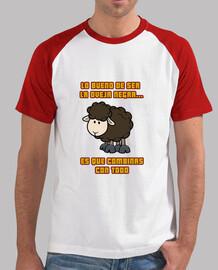 camiseta hombre oveja negra