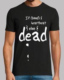 Camiseta hombre para un web developer con Sangre