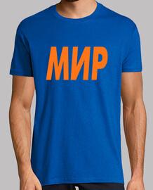 Camiseta hombre: МИР=PAZ