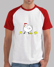 camiseta hombre pollitos