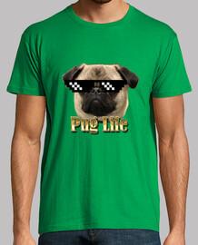 Camiseta hombre Pug life