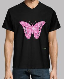 Camiseta hombre: Sin cambios no hay mariposas