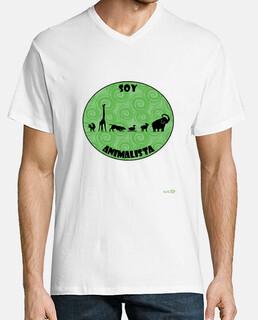Camiseta hombre: Soy animalista