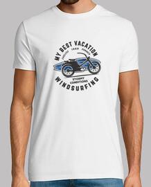 Camiseta hombre surfera   tabla de windsurf