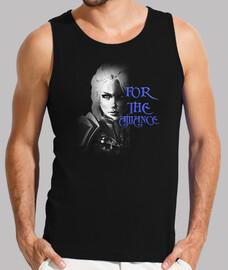 Camiseta Hombre Tirantas Jaina B&N For the Alliance
